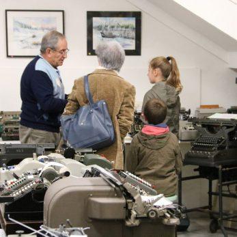 Visite du musée de la mécanographie